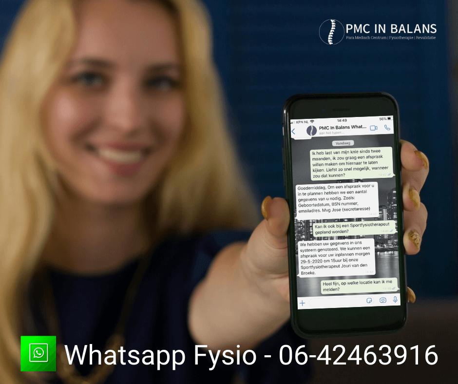 Whatsapp Fysio PMC In Balans